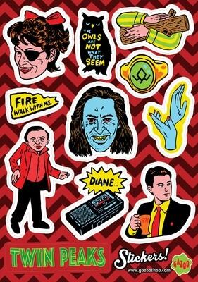 TWIN PEAKS A5 Vinyl Sticker Sheet