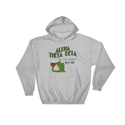 """no tea here"" Hooded Sweatshirt"