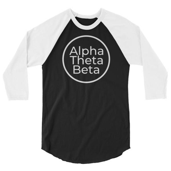 AOB circle 3/4 sleeve raglan shirt