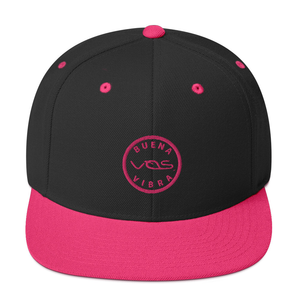 Snapback Cap│Buena Vibra│Pink Logo