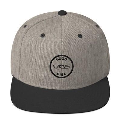 Snapback Cap│Good Vibe│Black Logo