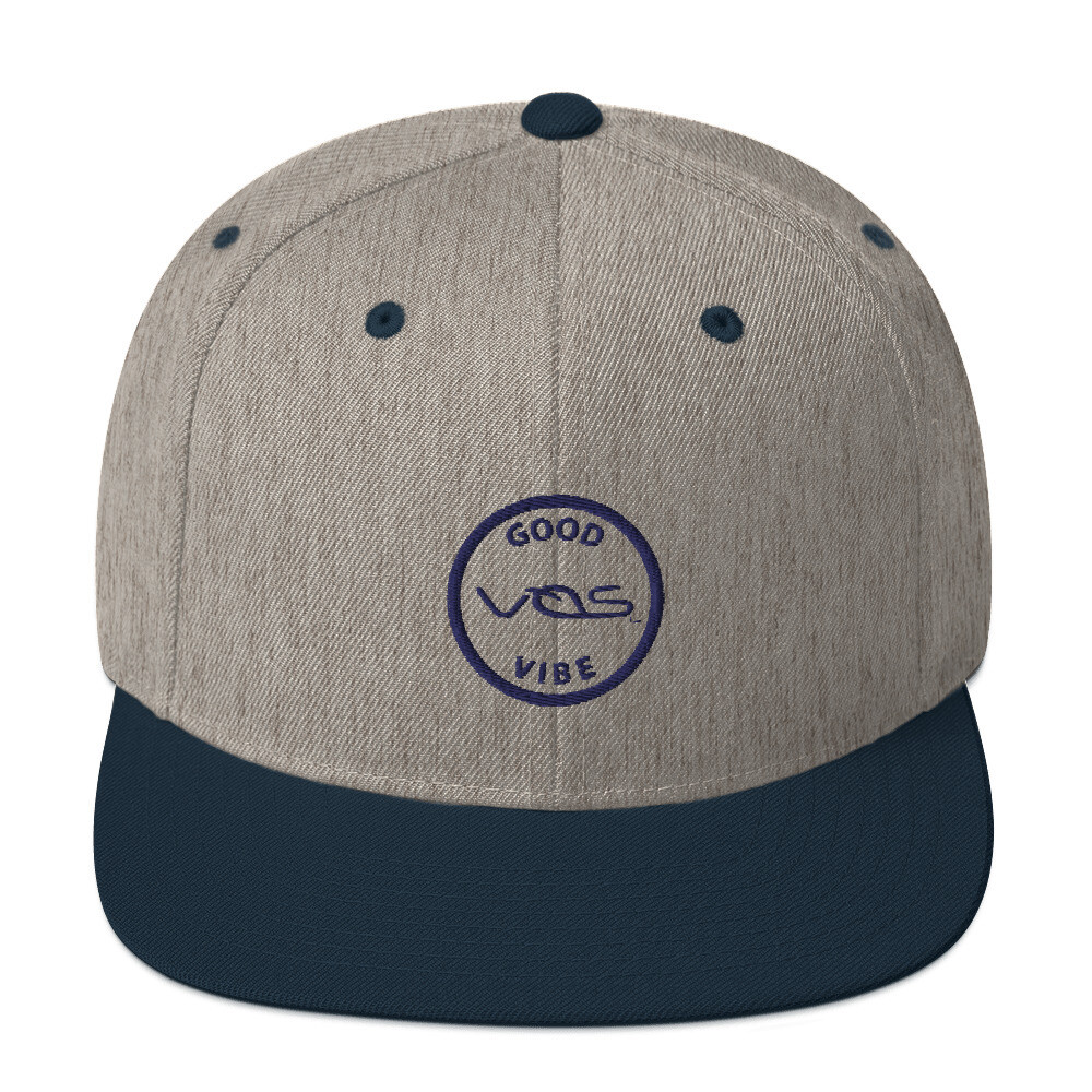 Snapback Cap│Good Vibe│Navy Logo