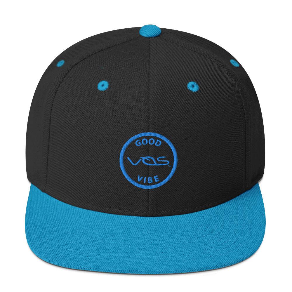 Snapback Cap│Good Vibe│Teal Logo