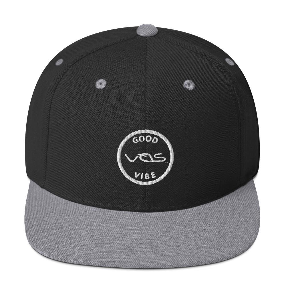 Snapback Cap│Good Vibe│Gray Logo