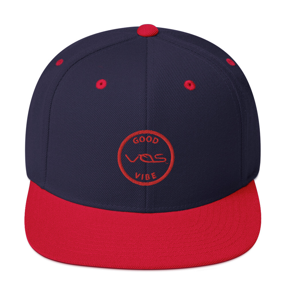Snapback Cap│Good Vibe│Red Logo
