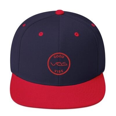 Snapback Cap│Good Vibe│Red Logo