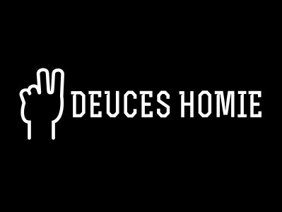 "Original Deuces Homie Sticker (Rectangular 3.5""x 2"")"