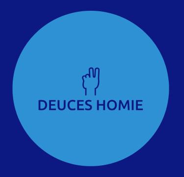 "Blue Deuces Homie Logo Sticker (Circular 1.5""x 1.5"")"