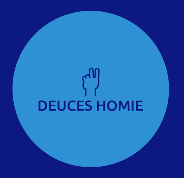 "Blue Deuces Homie Logo Sticker (Circular 1.5""x 1.5"")"