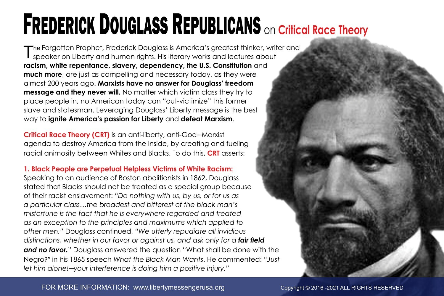 Engagement Card: Frederick Douglass on Critical Race Theory