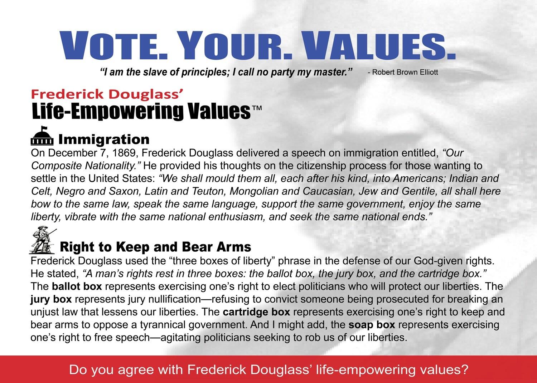 Vote Your Values Engagement Card