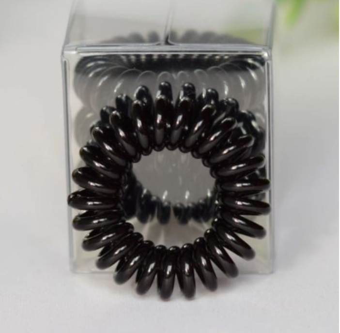 SAMPLE Black Spiral Hair Tie