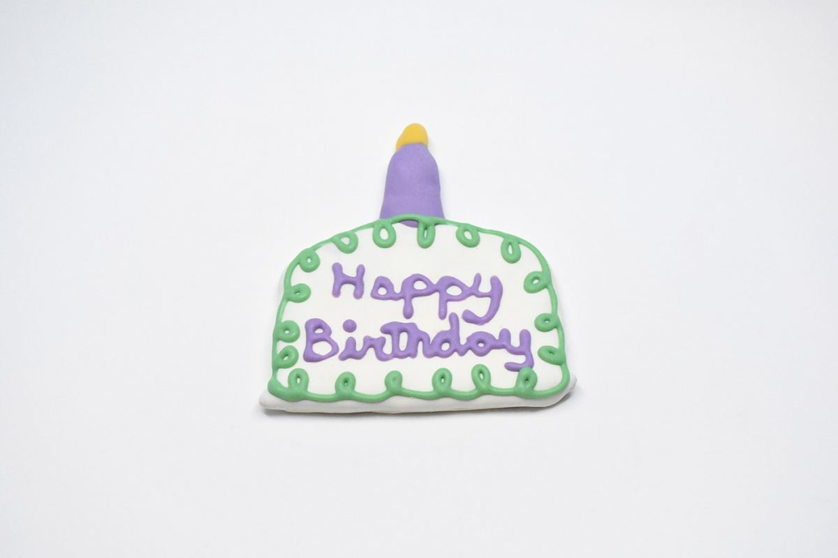 Birthday Cake with Candle Cookie