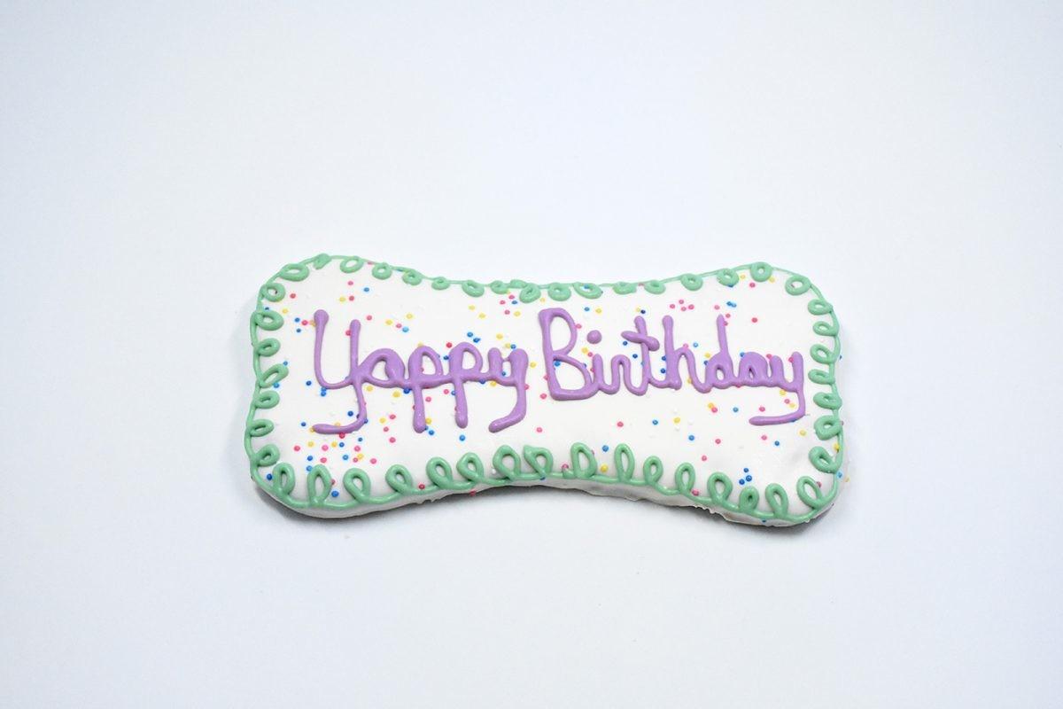 Yappy Birthday Bone Cookie