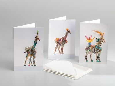 Greeting Cards - Giraffes and Circus Horse