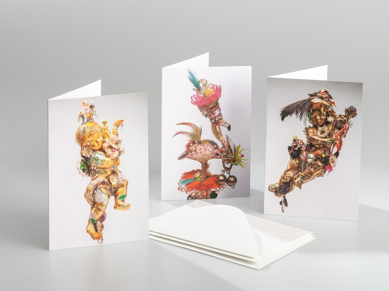 Greeting Cards - Cherubs and Flamingo