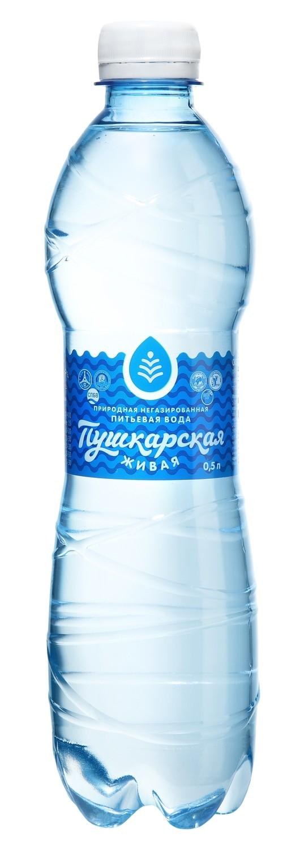 """Вода природная питьевая """"Пушкарская Живая"""", 0,5 л."""