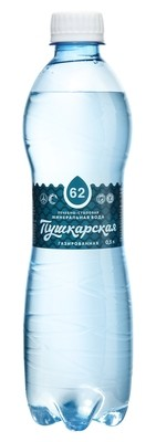 """Вода минеральная лечебно-столовая """"Пушкарская"""", 0,5 л."""