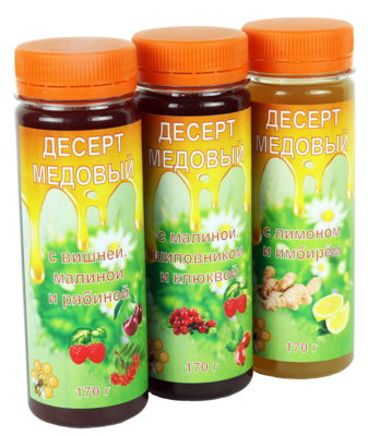 Десерты медовые нефильтрованные, 170 г