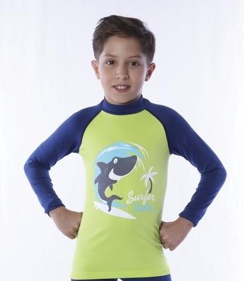 Playera acuática manga larga para niño
