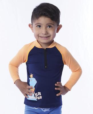 Playera acuática manga larga para bebe niño