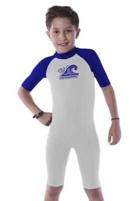 Body acuático seamless manga corta para niño (4-10 años)