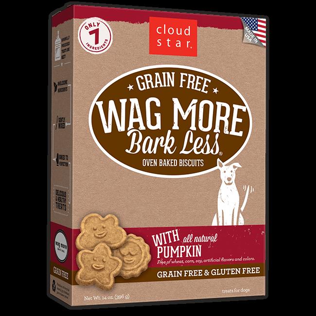 Wag More Bark Less Oven-Baked Grain Free: Pumpkin Dog Treats