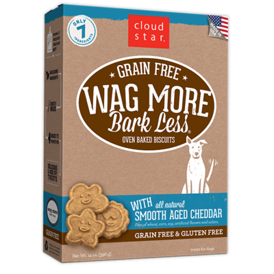 Wag More Bark Less Oven-Baked Grain Free: Smooth Aged Cheddar Dog Treats