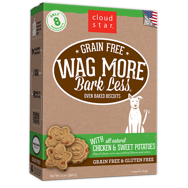 Wag More Bark Less Oven-Baked Grain Free: Chicken and Sweet Potatoes Dog Treats