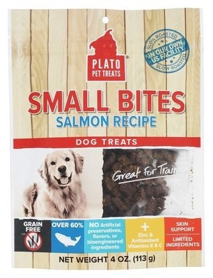 Plato Small Bites Salmon Dog Treats