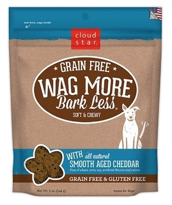 Wag More Bark Less Dog Treats - Cheddar