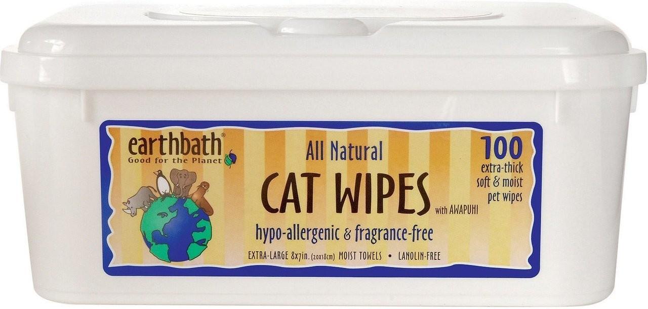 Earthbath Hypoallergenic Cat Wipes - 100 count