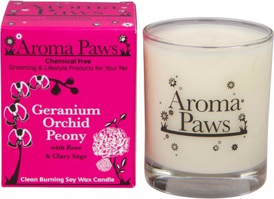 Aroma Paws Candle - Geranium Orchid