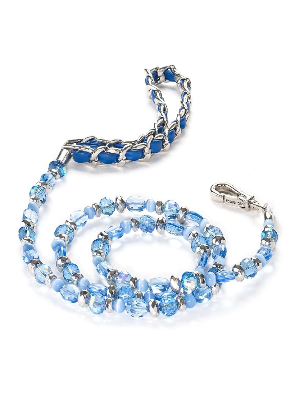 5th Avenue Collection Sapphire Blue Jewel Leash