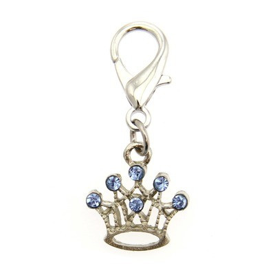 Crown Collar Charm - Blue