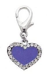 Enamel Heart Collar Charm - Lilac
