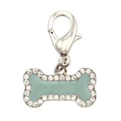 Enamel Bone Collar Charm - Mint