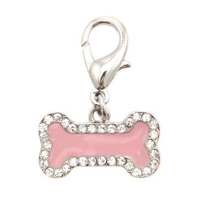 Enamel Bone Collar Charm - Pink
