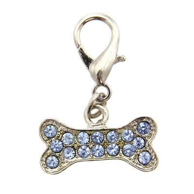 Basic Bone Collar Charm -  Blue