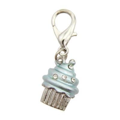 Luxe Cupcake Collar Charm - Blue