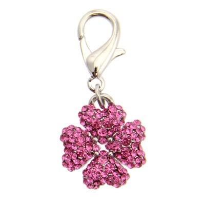 Clover Collar Charm - Pink