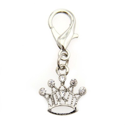 Crown Collar Charm - Clear