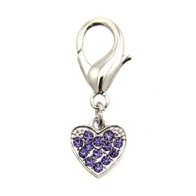 Basic Heart Collar Charm - Lilac