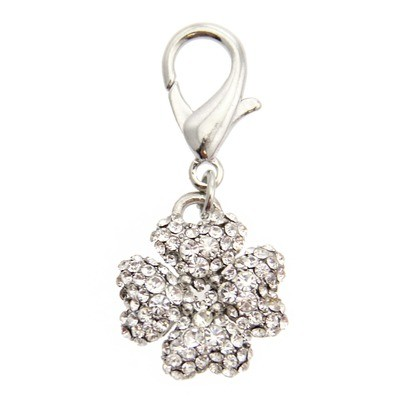 Clover Collar Charm - Clear