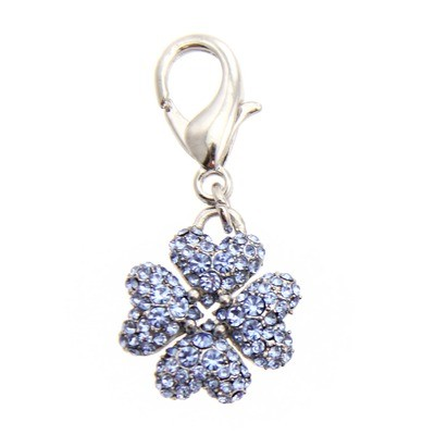 Clover Collar Charm - Blue