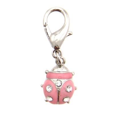 Ladybug Collar Charm - Pink