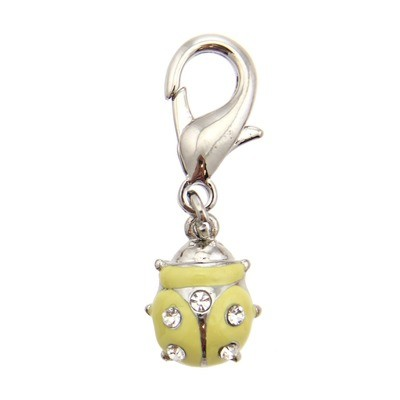Ladybug Collar Charm - Yellow