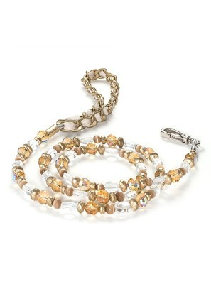 5th Avenue Collection Gold Jewel Leash
