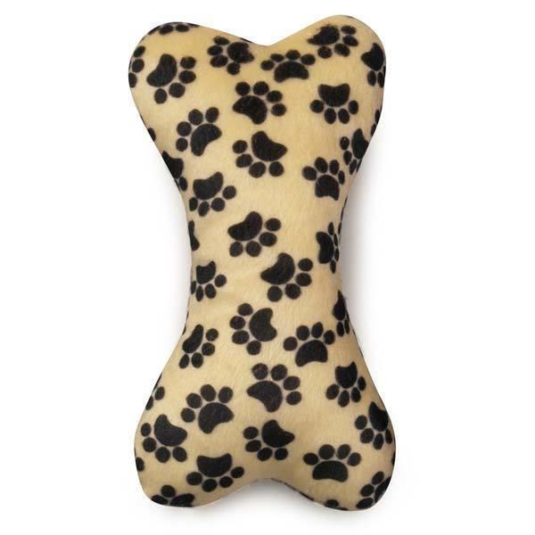 Wild Style Paw Print Bone Dog Toy