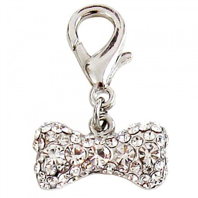 Pave Bone Collar Charm - Clear